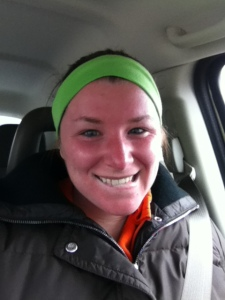 My red face after the hour run and stretching....awesome. Don't worry, my heart rate was great!