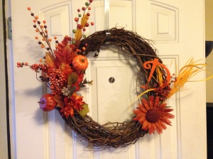 Fall wreath! Love it!